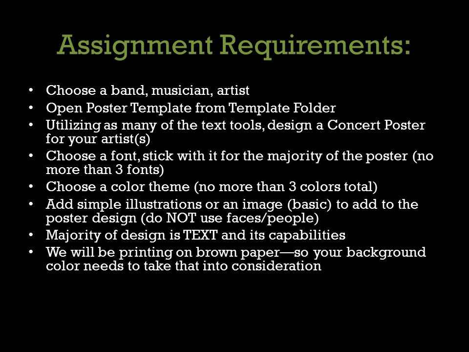 Assignment Requirements: