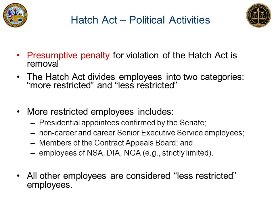 Hatch Act – Political Activities