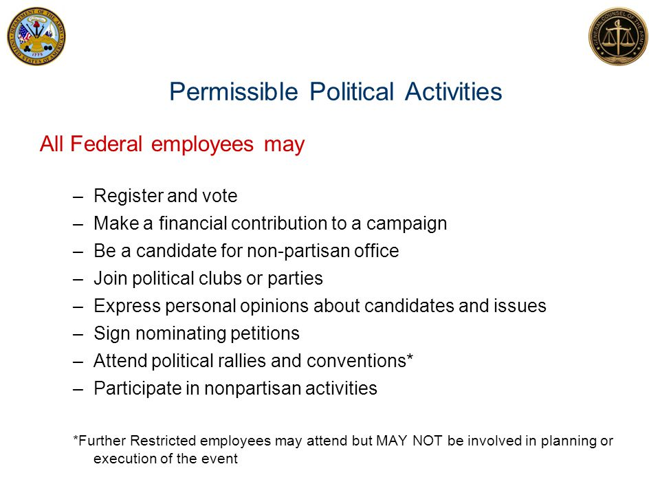 Permissible Political Activities