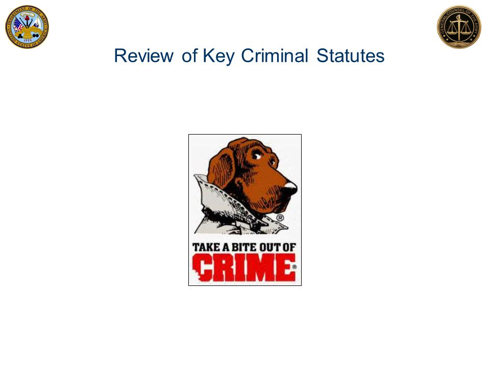 Review of Key Criminal Statutes