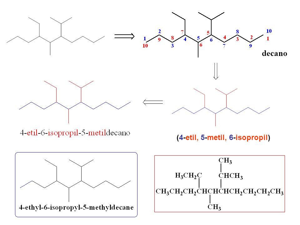 decano (4-etil, 5-metil, 6-isopropil)