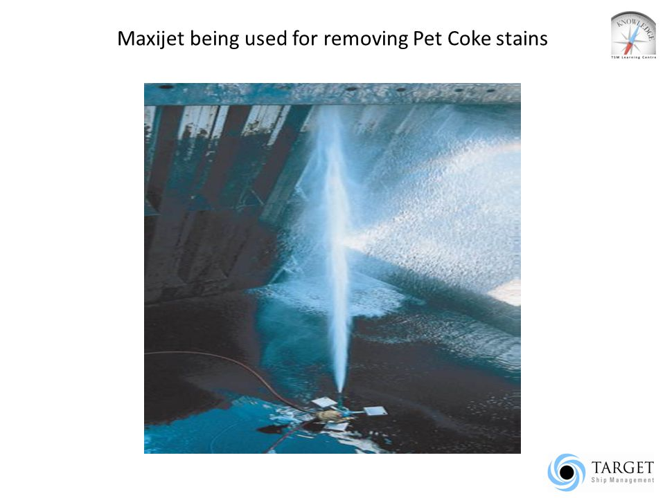 Maxijet being used for removing Pet Coke stains