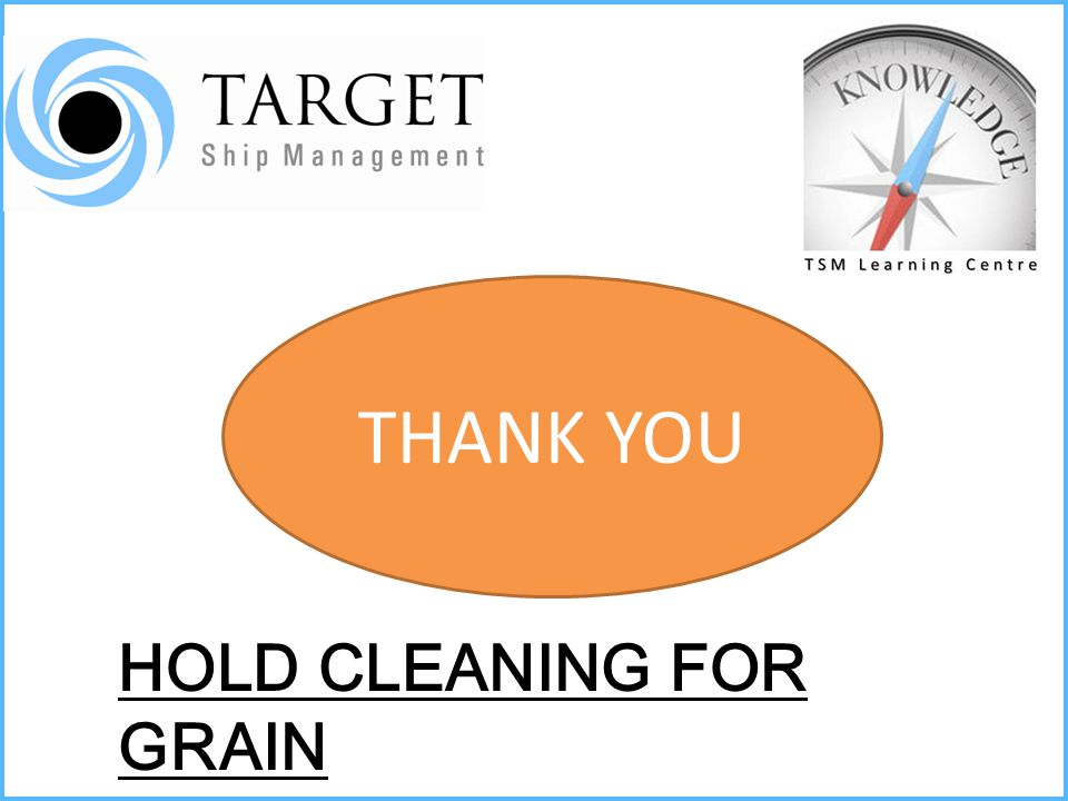 THANK YOU HOLD CLEANING FOR GRAIN
