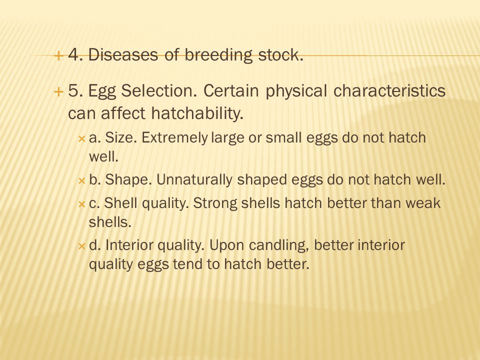 4. Diseases of breeding stock.