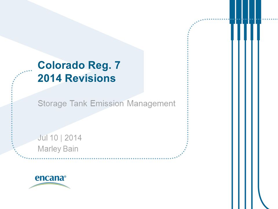 Colorado Reg. 7 2014 Revisions