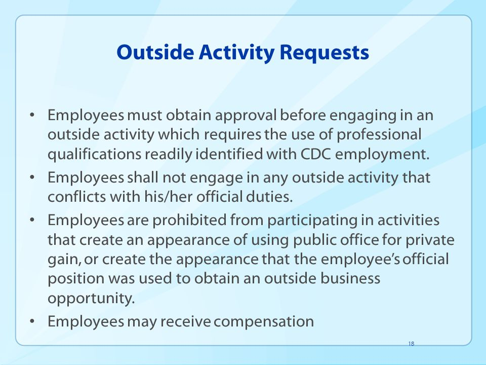 Outside Activity Requests