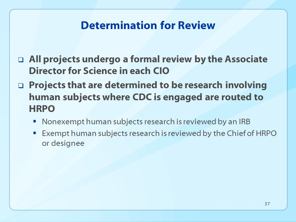 Determination for Review