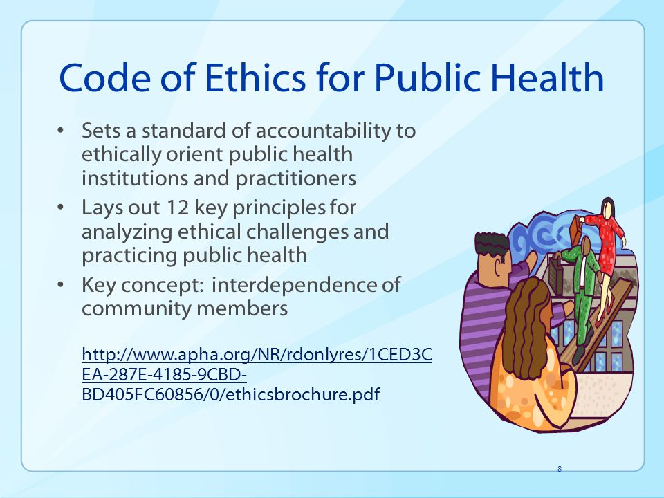 Code of Ethics for Public Health