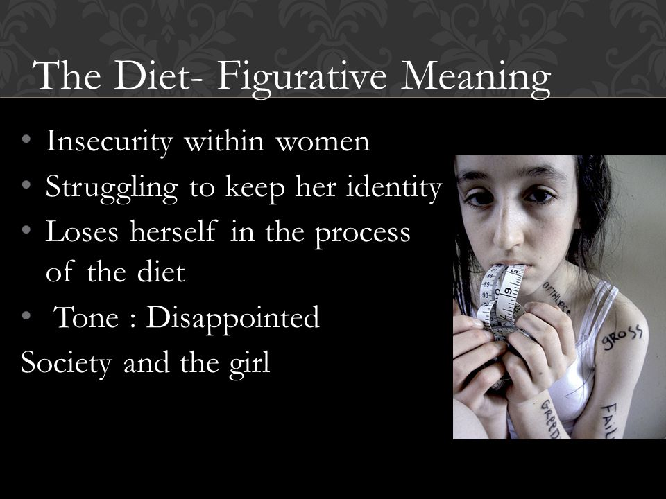 The Diet- Figurative Meaning