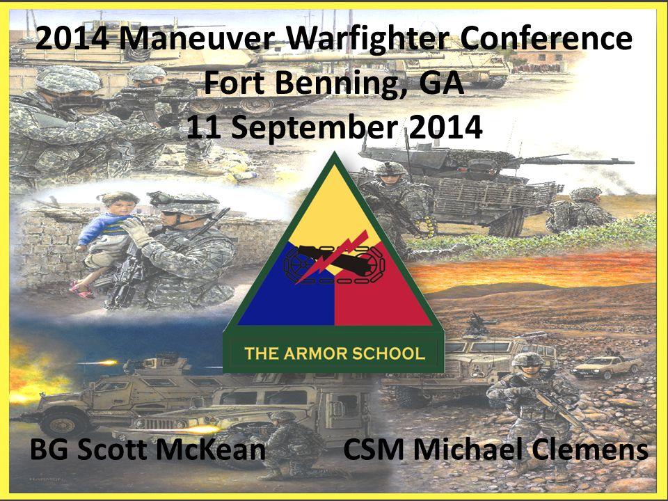 2014 Maneuver Warfighter Conference