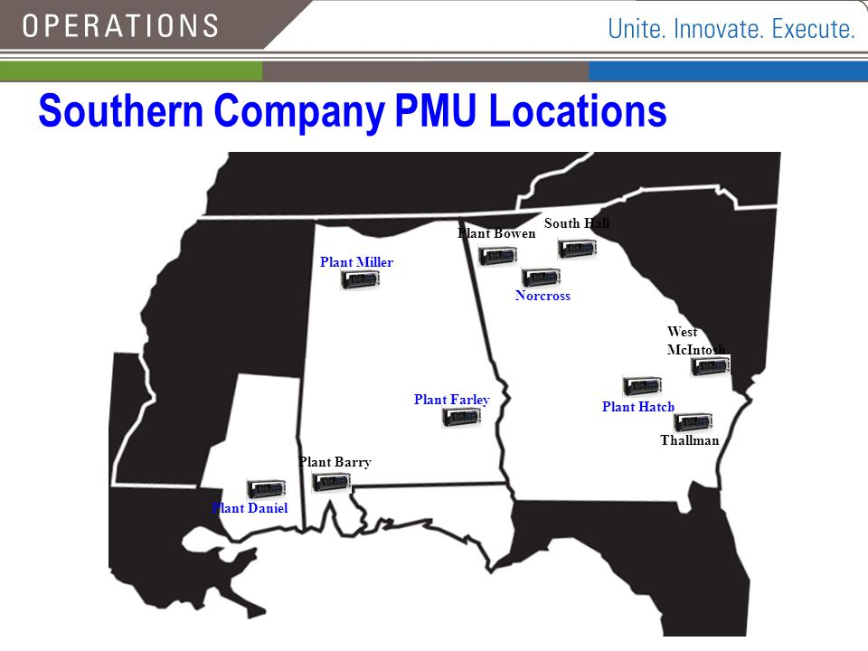Southern Company PMU Locations
