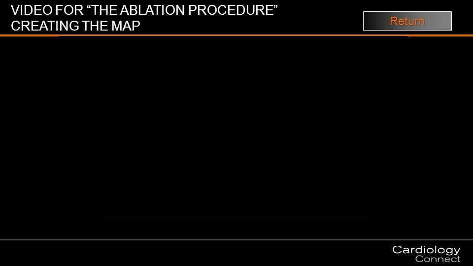 VIDEO FOR THE ABLATION PROCEDURE CREATING THE MAP