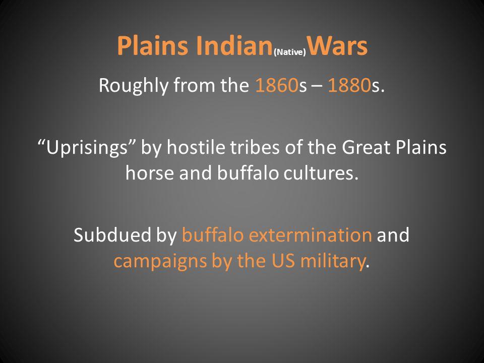 Plains Indian(Native)Wars