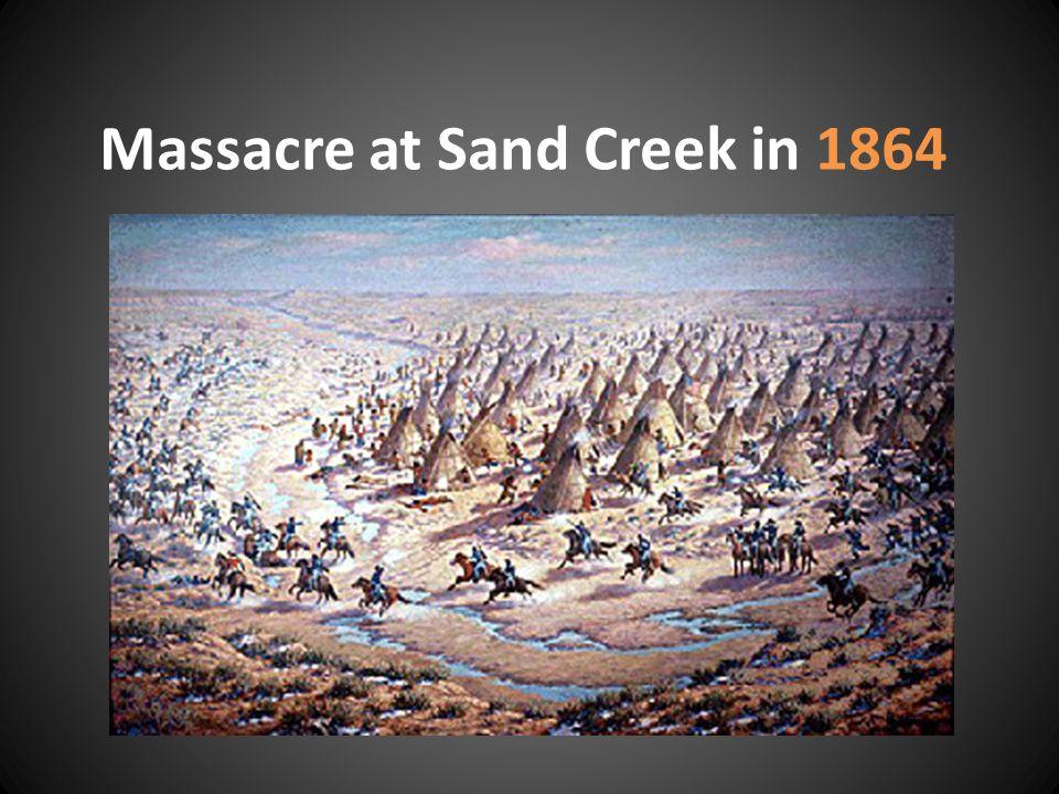 Massacre at Sand Creek in 1864