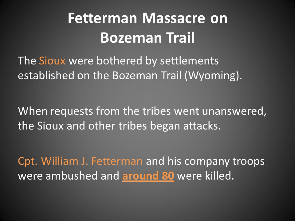 Fetterman Massacre on Bozeman Trail