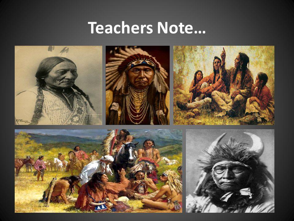 Teachers Note…