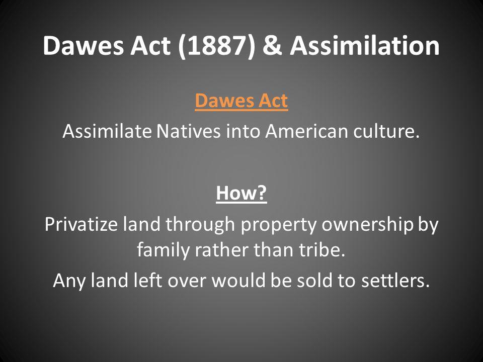 Dawes Act (1887) & Assimilation