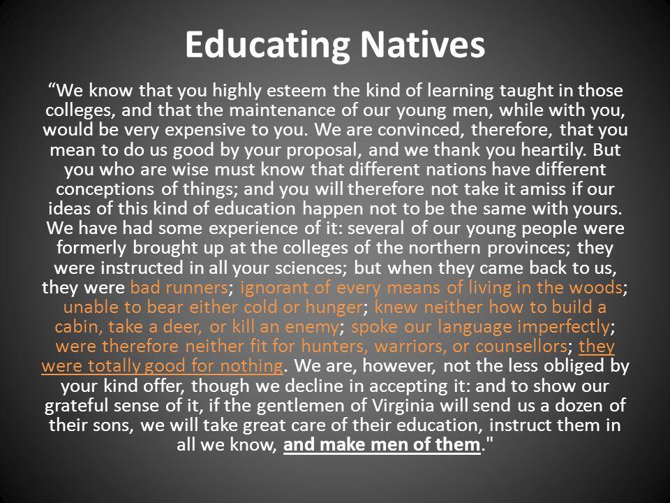 Educating Natives