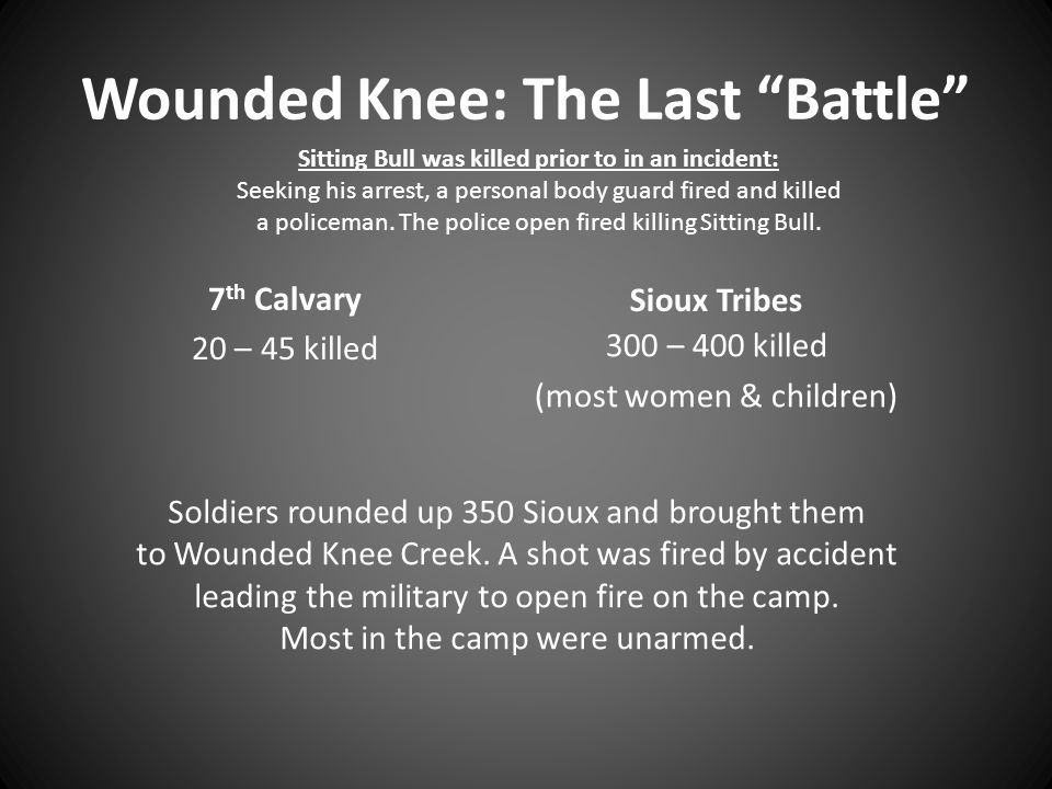 Wounded Knee: The Last Battle