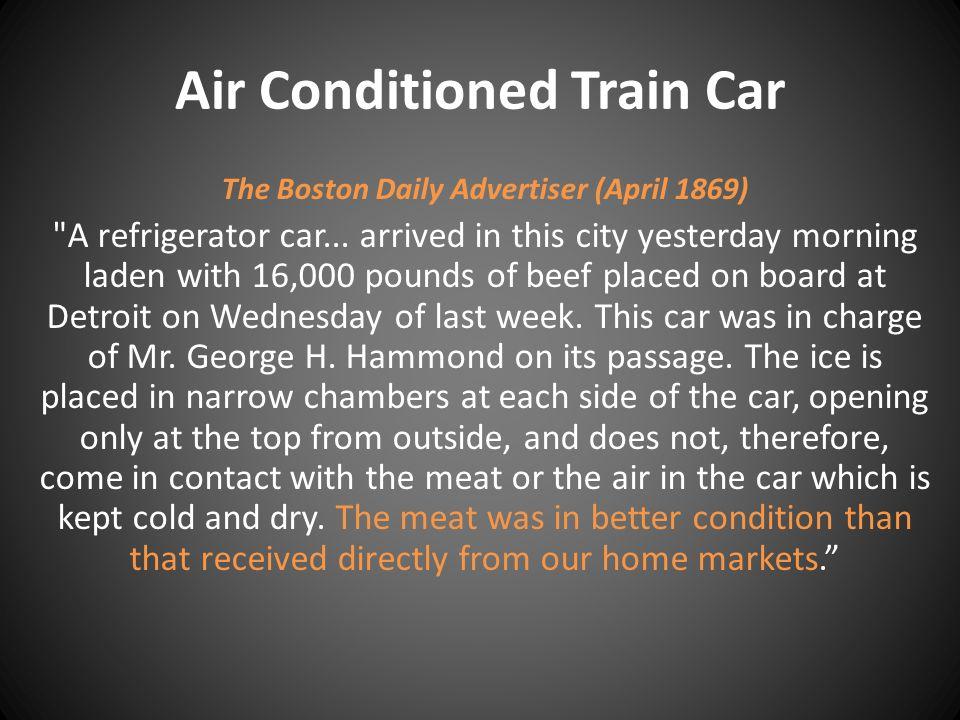 Air Conditioned Train Car