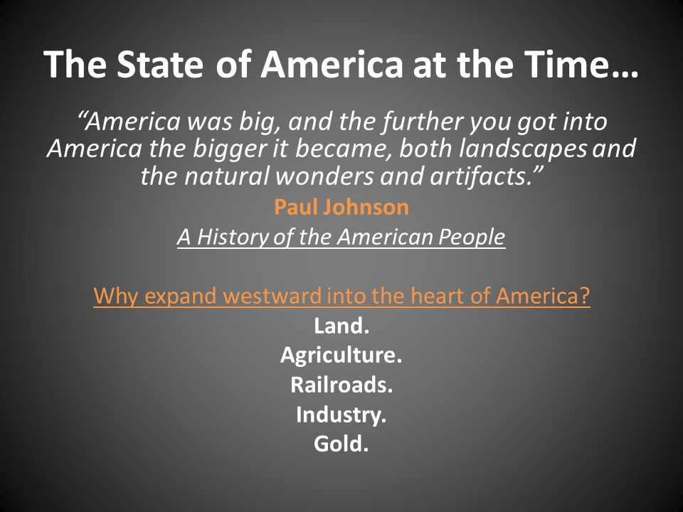 The State of America at the Time…