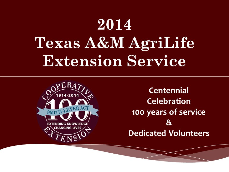 2014 Texas A&M AgriLife Extension Service