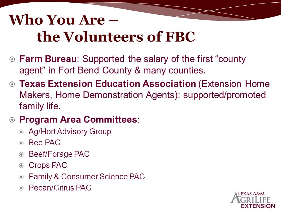 Who You Are – the Volunteers of FBC
