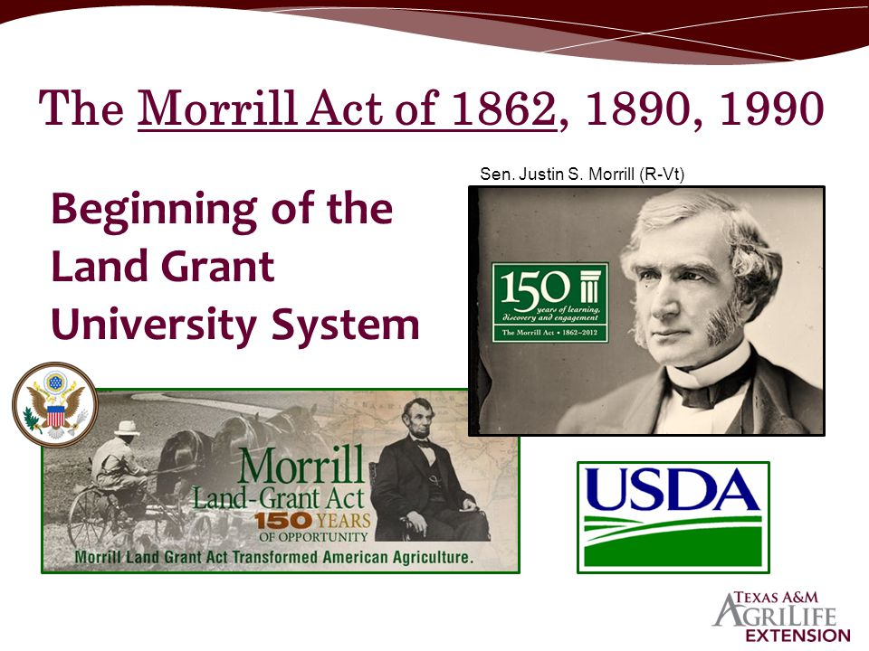 Beginning of the Land Grant University System