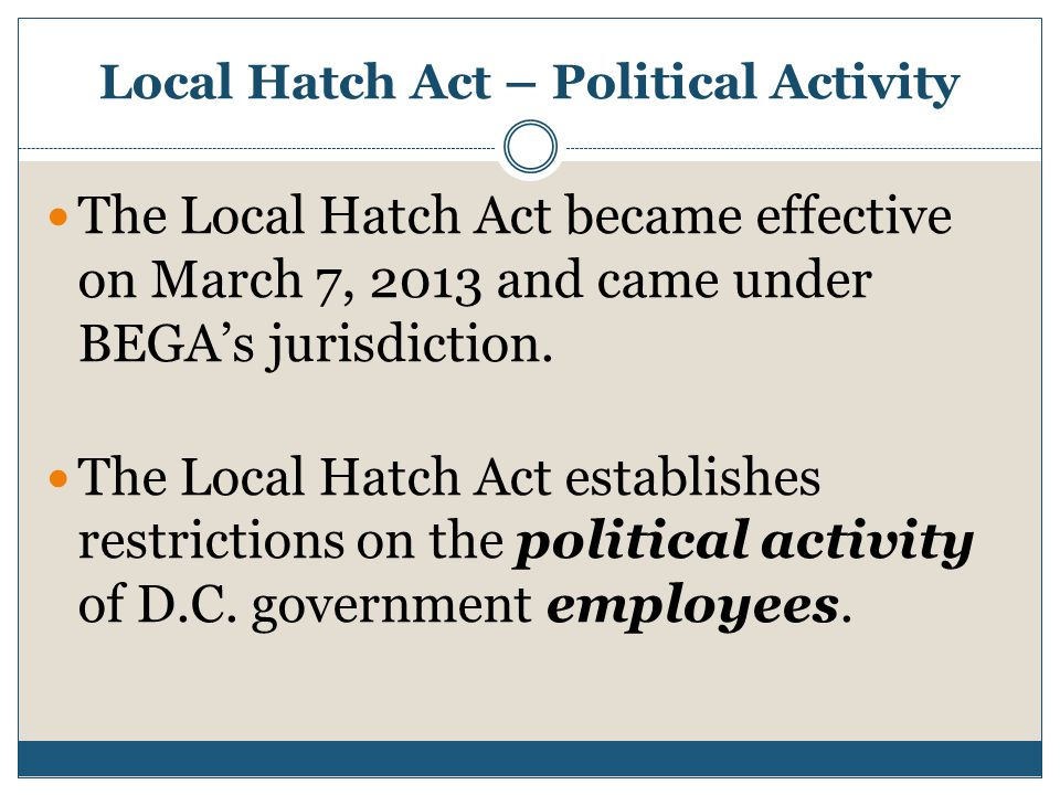 Local Hatch Act – Political Activity