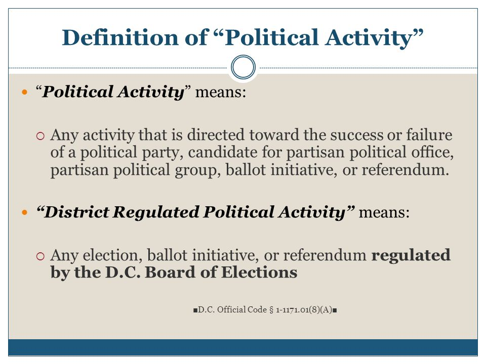 Definition of Political Activity