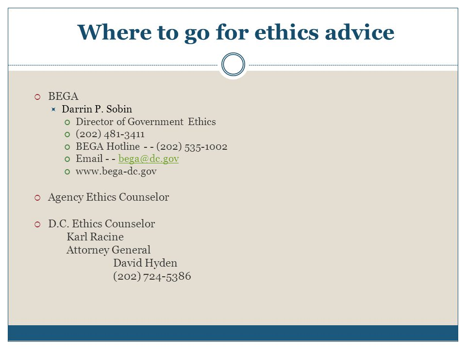 Where to go for ethics advice