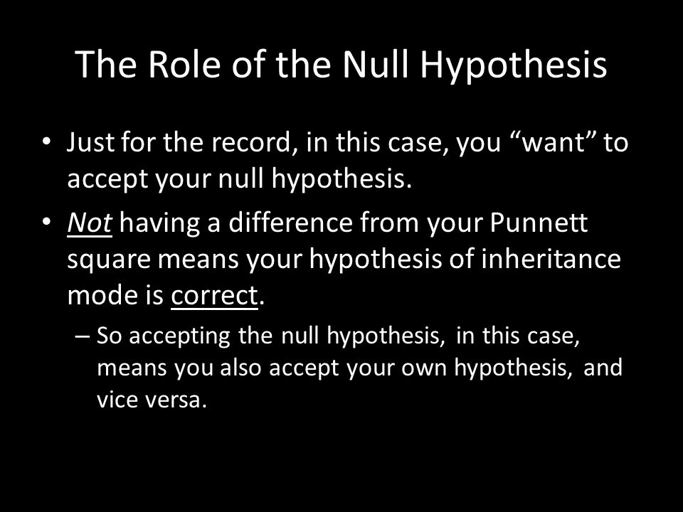 The Role of the Null Hypothesis