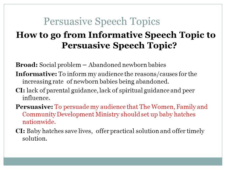 informative speech topics on how to do something