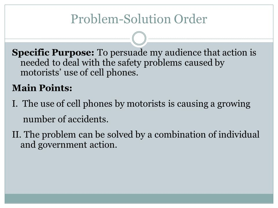 Problem-Solution Order
