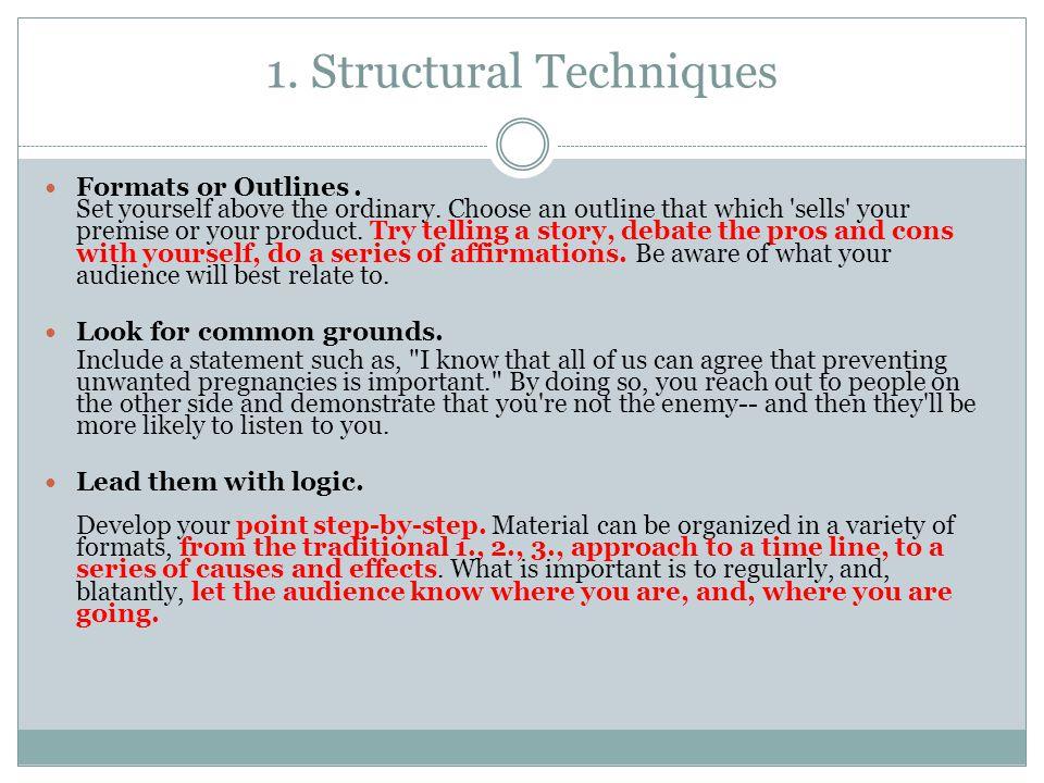 1. Structural Techniques