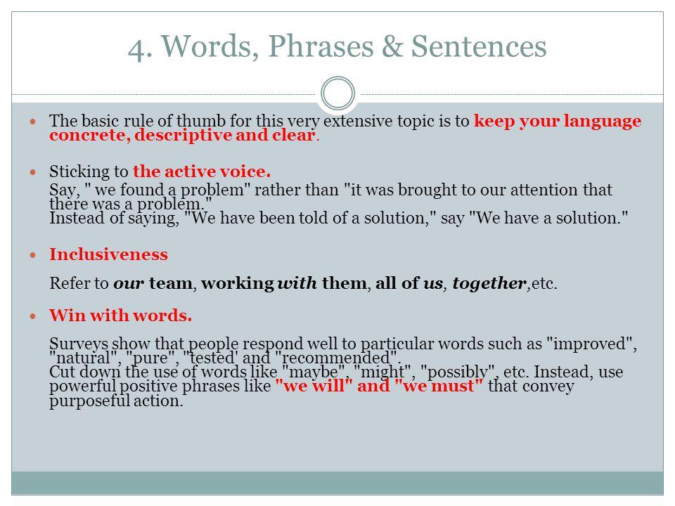 4. Words, Phrases & Sentences