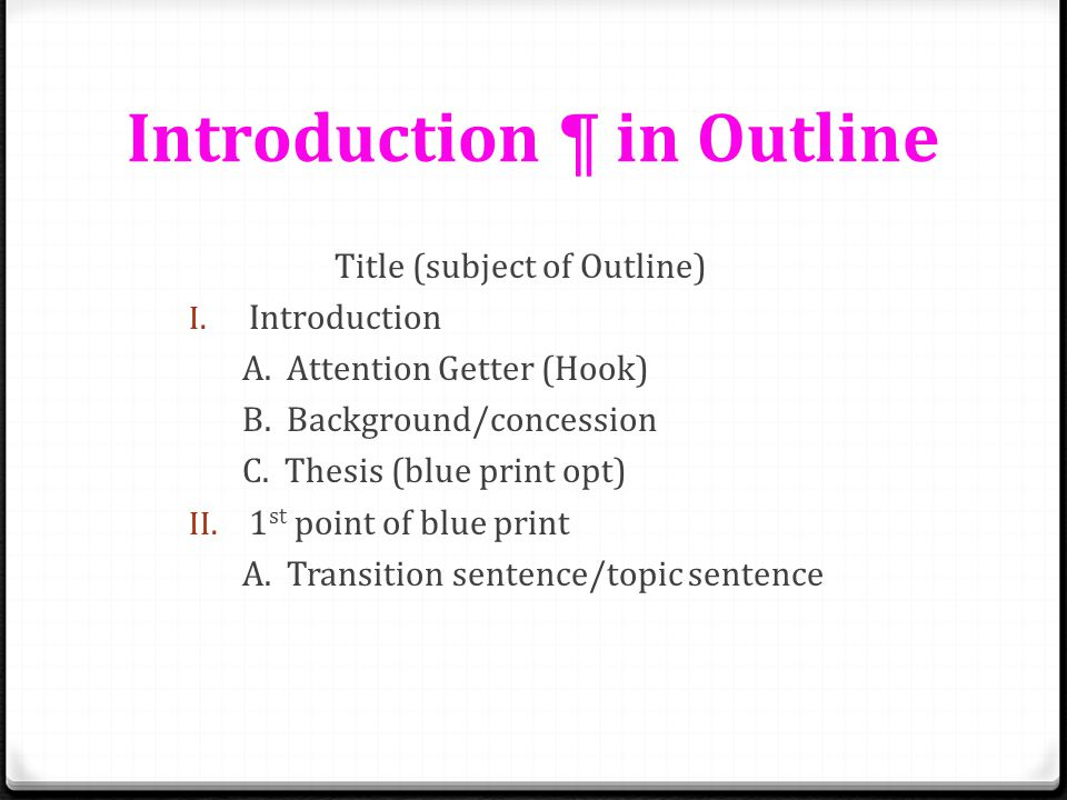 Introduction ¶ in Outline