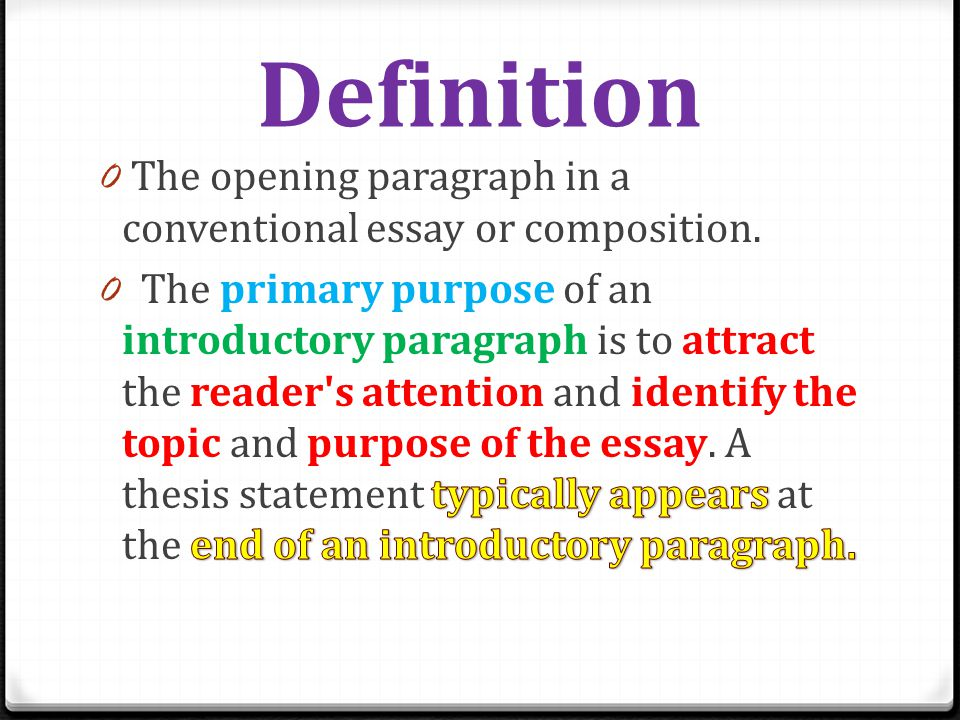 introduction paragraph for history essay