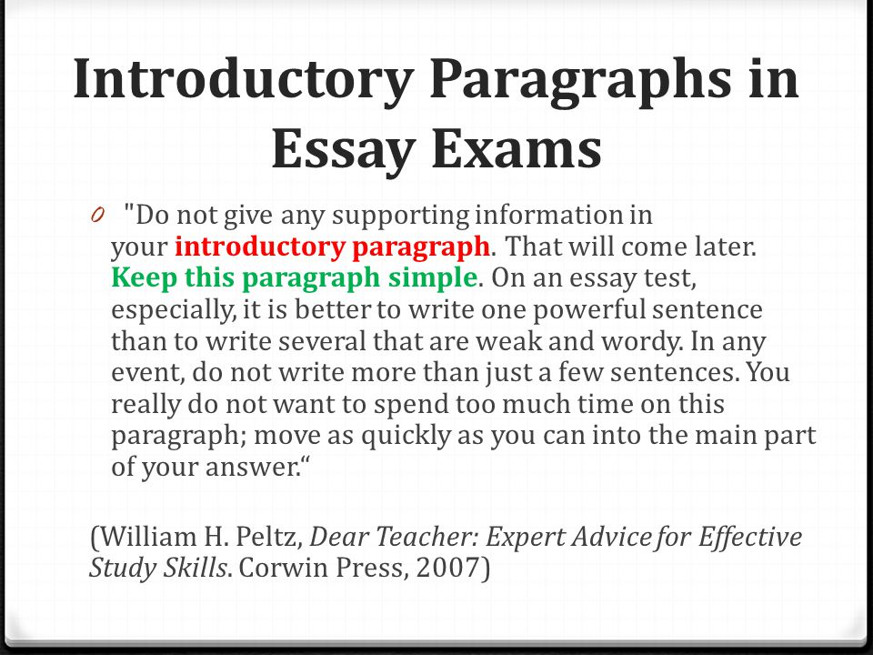 opening paragraphs start out a wow ppt video online  4 introductory paragraphs in essay exams