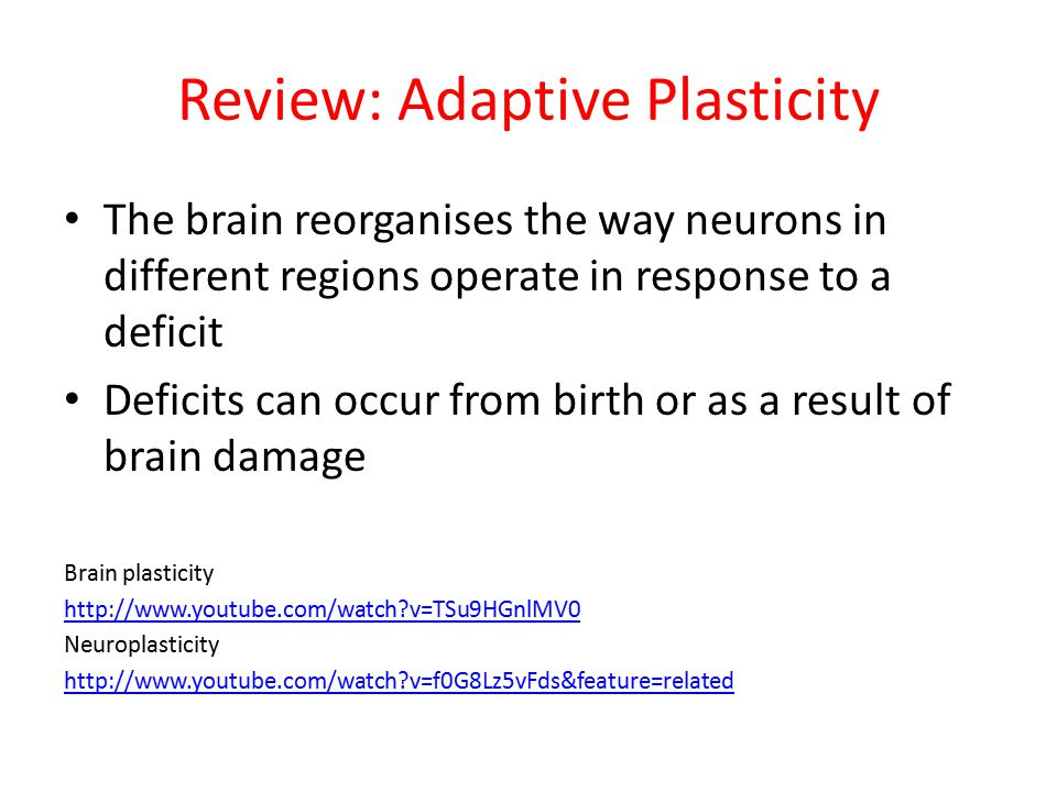 Review: Adaptive Plasticity