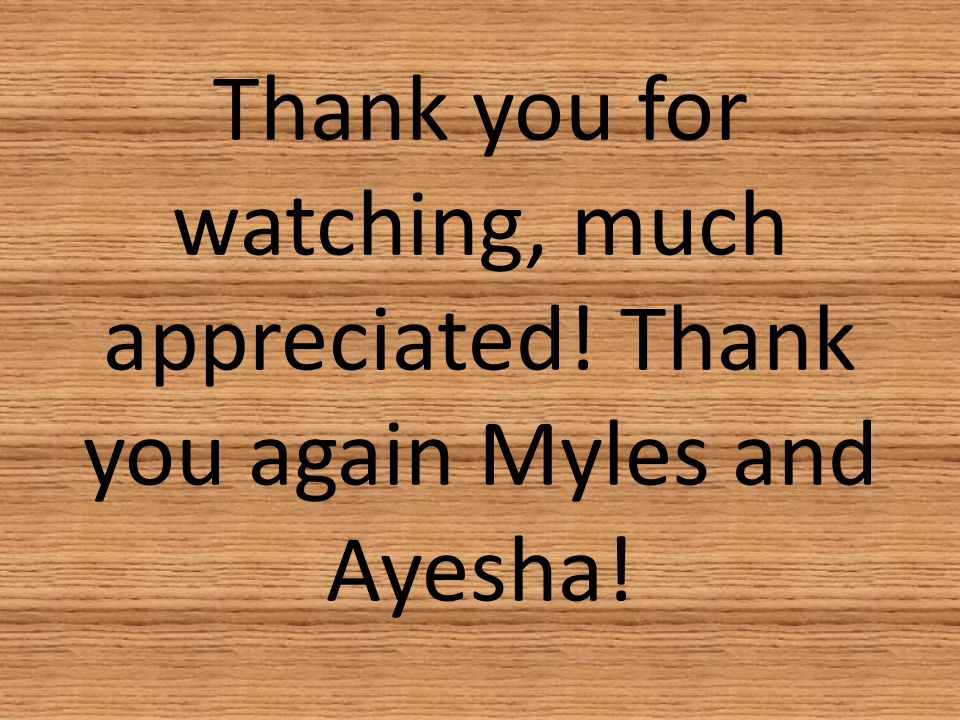 Thank you for watching, much appreciated