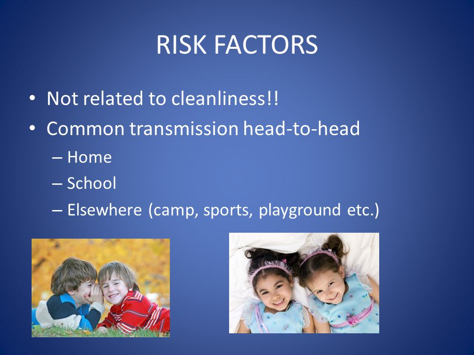 RISK FACTORS Not related to cleanliness!!