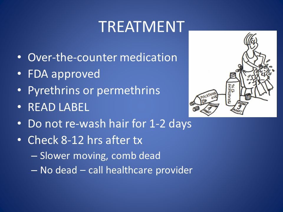 TREATMENT Over-the-counter medication FDA approved