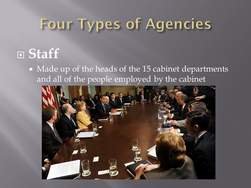 Four Types of Agencies Staff