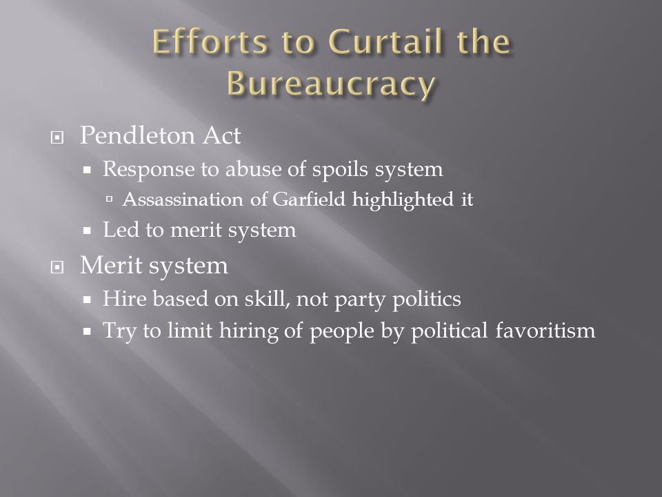 Efforts to Curtail the Bureaucracy