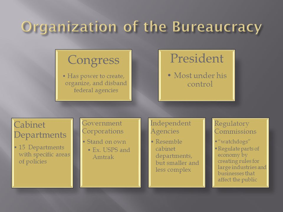 Organization of the Bureaucracy