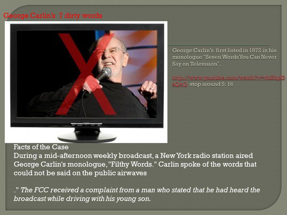 George Carlin's 7 dirty words