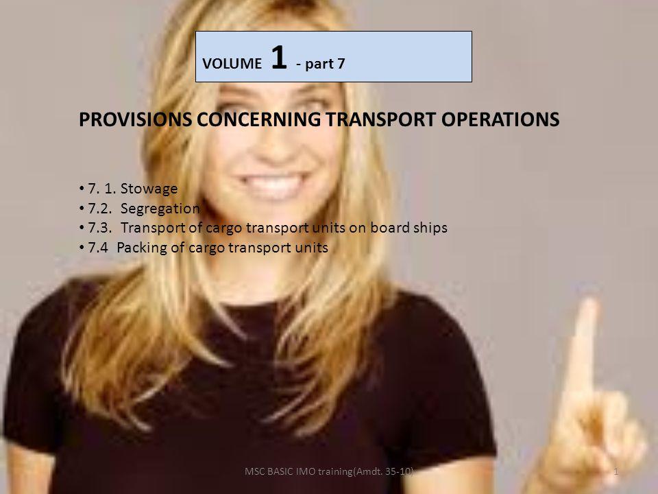 MSC BASIC IMO training(Amdt. 35-10)