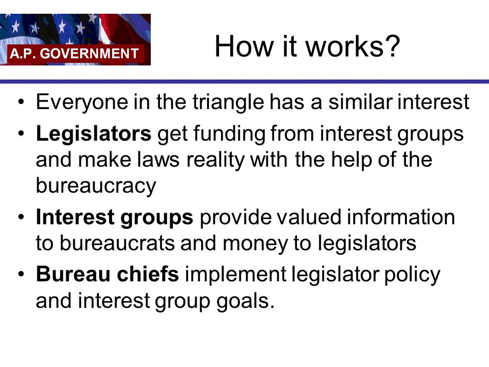 How it works Everyone in the triangle has a similar interest