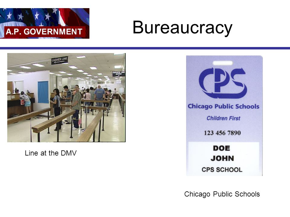 Bureaucracy Line at the DMV Chicago Public Schools